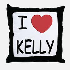 I heart Kelly Throw Pillow