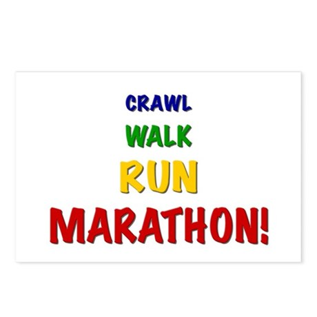 Crawl Walk Run Marathon Postcards (Package of 8)