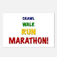 Crawl Walk Run Marathon Postcards (Package of 8)