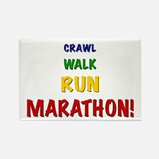 Crawl Walk Run Marathon Rectangle Magnet