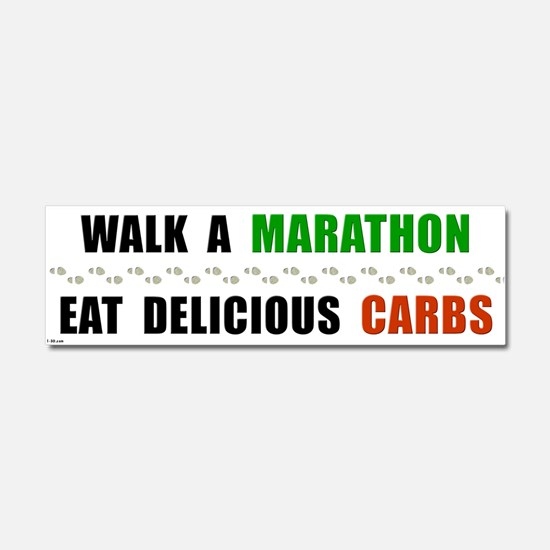 Walk Marathon Eat Carbs Car Magnet 10 x 3