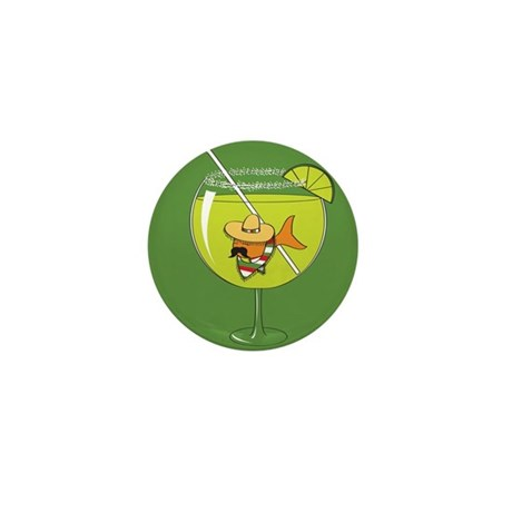 Fishbowl Margarita Mini Button
