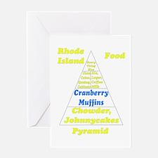 Rhode Island Food Pyramid Greeting Card