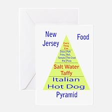New Jersey Food Pyramid Greeting Card