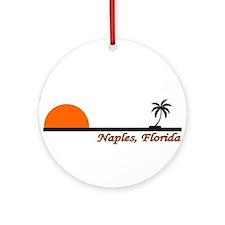 Cute Naples florida Ornament (Round)