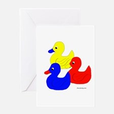 Primary Ducks Greeting Card