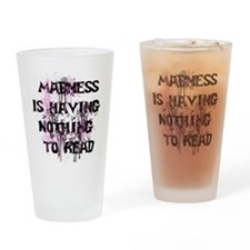 Reading Madness Gifts Drinking Glass