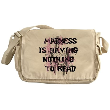 Reading Madness Gifts Messenger Bag