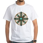 Native American Beadwork Mandala White T-Shirt