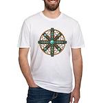 Native American Beadwork Mandala Fitted T-Shirt