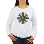 Native American Beadwork Mandala Women's Long Slee