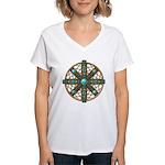 Native American Beadwork Mandala Women's V-Neck T-