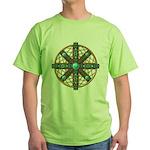 Native American Beadwork Mandala Green T-Shirt