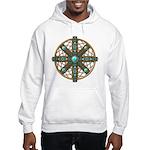 Native American Beadwork Mandala Hooded Sweatshirt