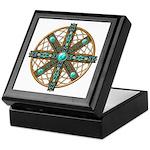 Native American Beadwork Mandala Keepsake Box
