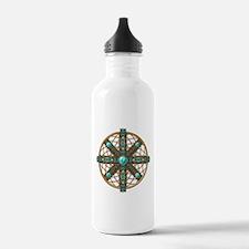 Native American Beadwork Mandala Water Bottle