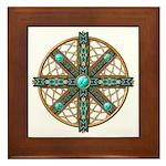 Native American Beadwork Mandala Framed Tile