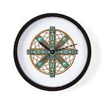Native American Beadwork Mandala Wall Clock