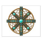 Native American Beadwork Mandala Small Poster
