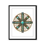 Native American Beadwork Mandala Framed Panel Prin