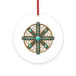 Native American Beadwork Mandala Ornament (Round)