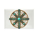 Native American Beadwork Mandala Rectangle Magnet