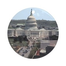 Capital Building DC Ornament (Round)