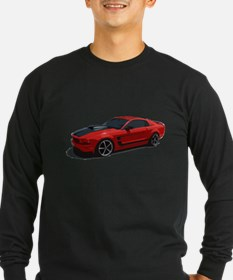 Red Ford Mustang T