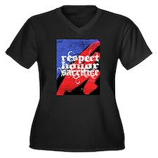 respect, honor, sacrifice, bl Women's Plus Size V-