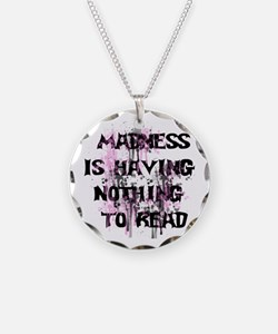 Reading Madness Gifts Necklace Circle Charm
