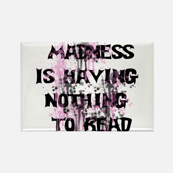 Reading Madness Gifts Rectangle Magnet