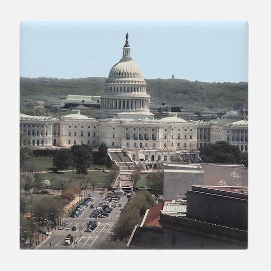 Capital Building DC Tile Coaster