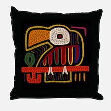 Indigenous Bird Art Throw Pillow