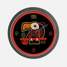 Mola Indigenous Art Wall Clock