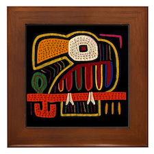 Mola Indigenous Art Framed Tile