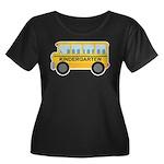 Kindergarten School Bus Women's Plus Size Scoop Ne