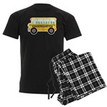 Kindergarten School Bus Men's Dark Pajamas