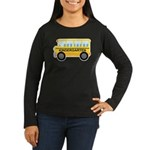 Kindergarten School Bus Women's Long Sleeve Dark T