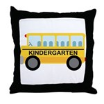 Kindergarten School Bus Throw Pillow