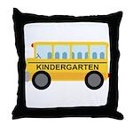 Kindergarten School Bus Throw Pillow