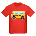 Kindergarten School Bus Kids Dark T-Shirt