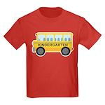 Kindergarten School Bus Kids Dark T-Shirt