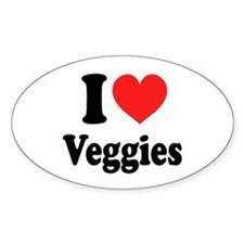 I Love Veggies: Decal