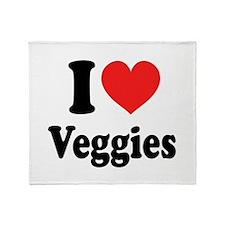 I Love Veggies: Throw Blanket
