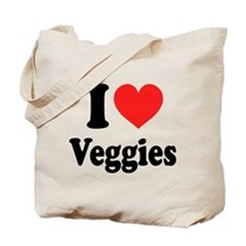 I Love Veggies: Tote Bag