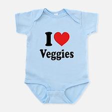 I Love Veggies: Infant Bodysuit