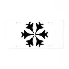 F-15 Aviation Snowflake Aluminum License Plate