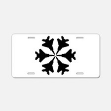 F-15 Aviation Snowflake Aluminum License Plate