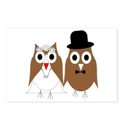 Wedding Owls Postcards (Package of 8)