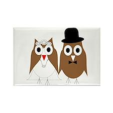 Wedding Owls Rectangle Magnet (100 pack)